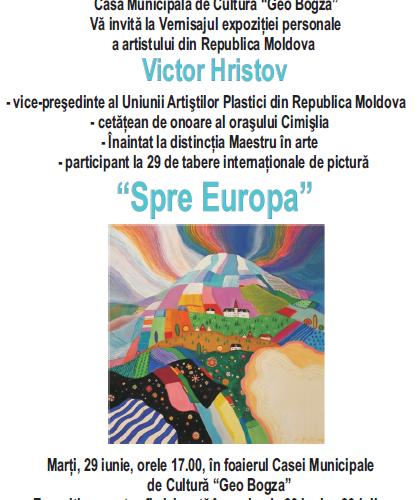 Eveniment plin de culoare. Artist plastic din Cimișlia expune la Câmpina
